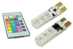 LED W5W T10 RGB ze...