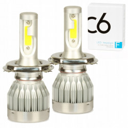 LED COB H4 C6 72W 7600 lm...